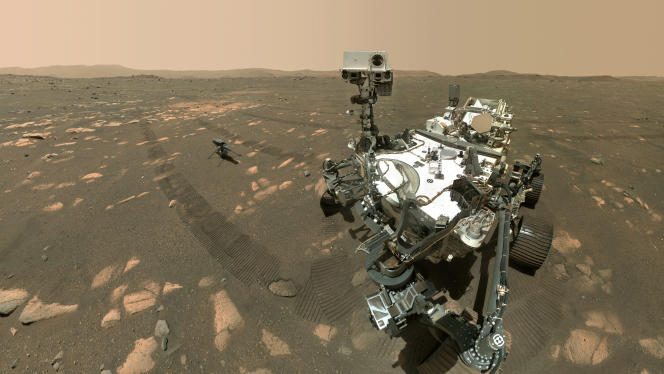 NASA's Perseverance Rover and its ingenuity on Mars on April 6th.