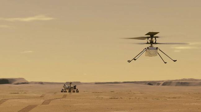 The ingenious helicopter is on Mars soil
