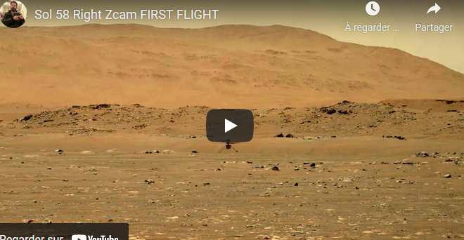 Video - Helicopter's first flight to Mars