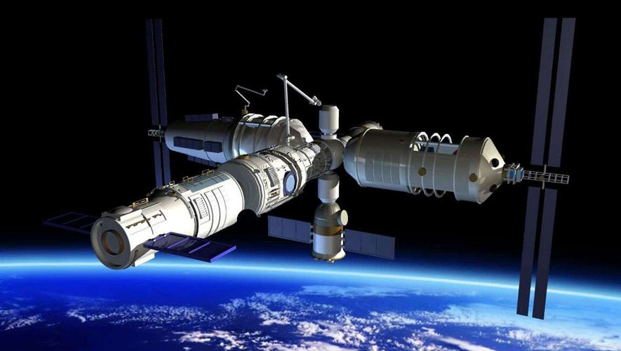 Which of these new space stations will be placed in orbit around the Earth this week?