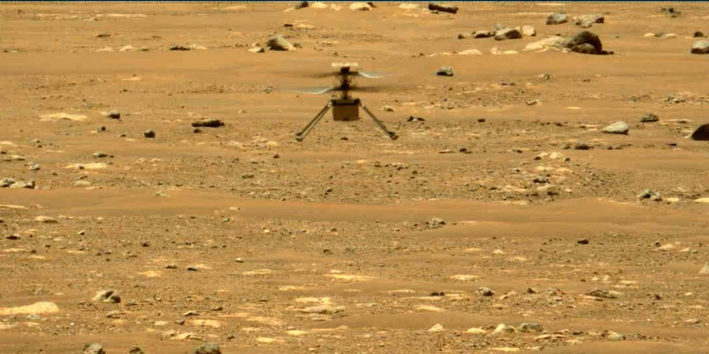 The ingenuity of the first helicopter to fly to Mars was extended by a month