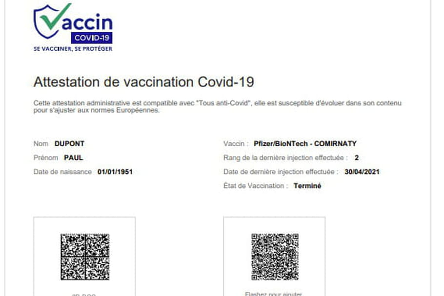 Attestation de vaccination Covid: en France, comment l
