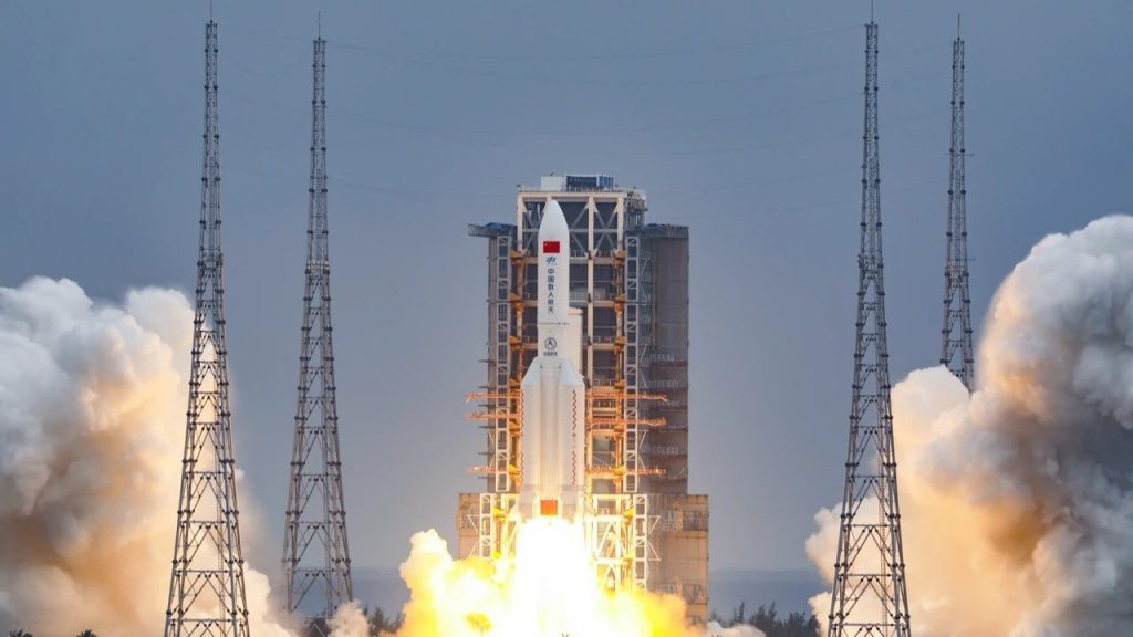 The Chinese rocket that brought the space station into orbit is crashing uncontrollably