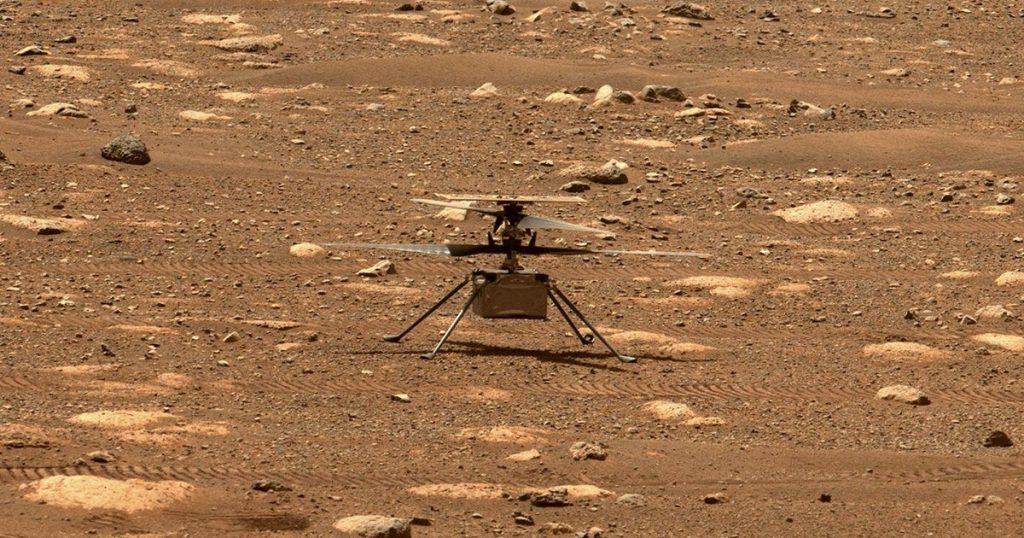 ask! A helicopter sounds on Mars