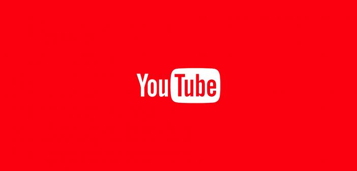 YouTube logo on red background