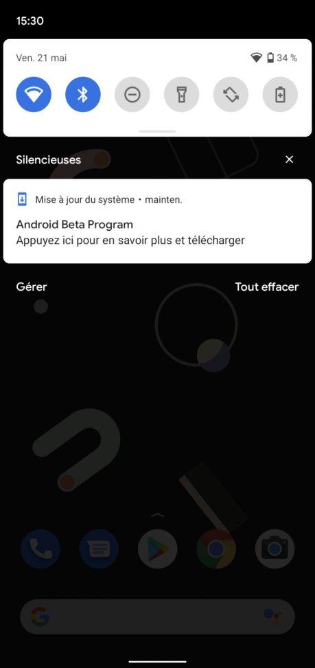 Android 12 Beta 1 installation