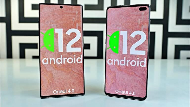 Android 12: Receive Samsung smartphones