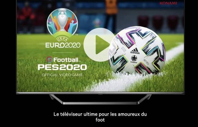 Hissense LED TV U7, the official TV of the Euro.