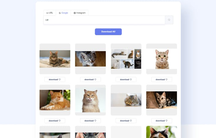 ImgDownloader Google Search Example