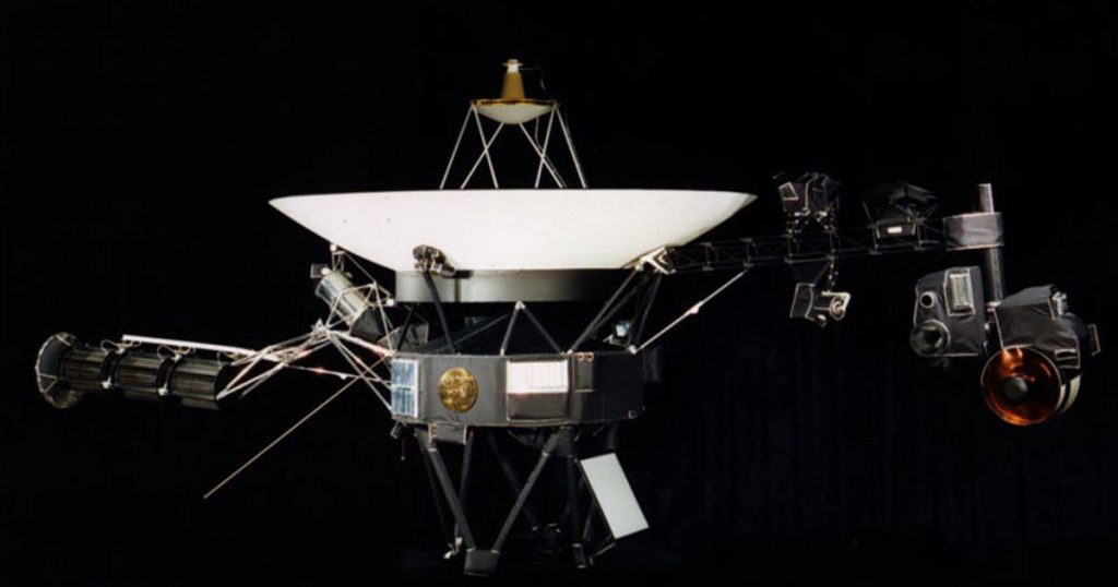 Location. At a distance of 22 billion kilometers, Voyager 1 spacecraft detects a strange noise