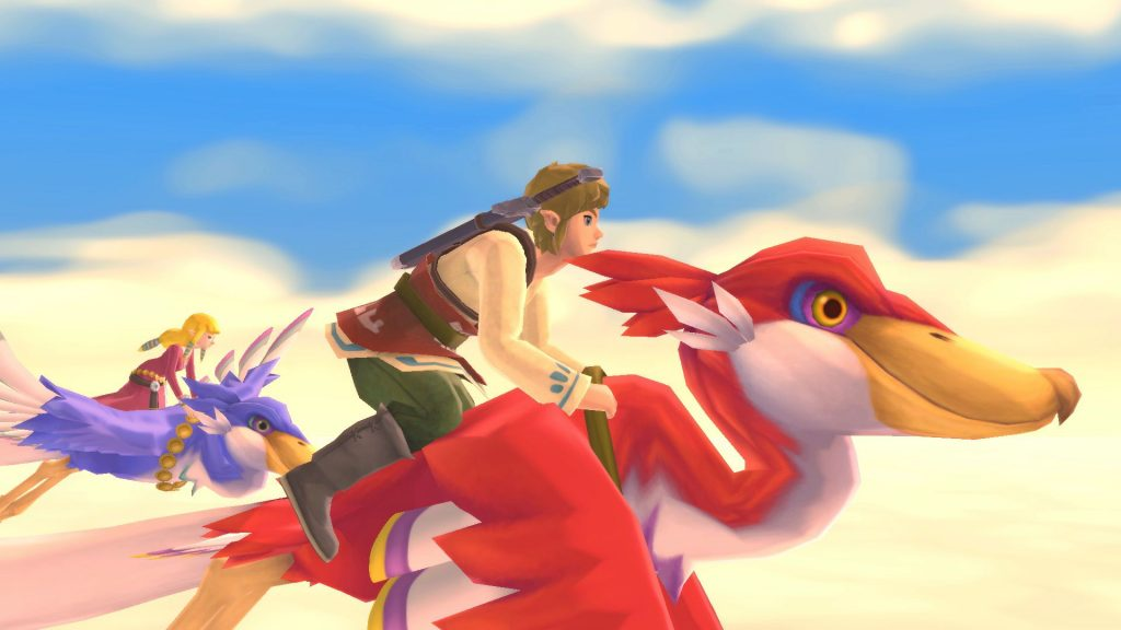 The Legend of Zelda Skyward Wall Vola Su Nintendo Switch: Loftwing e Video Game Play