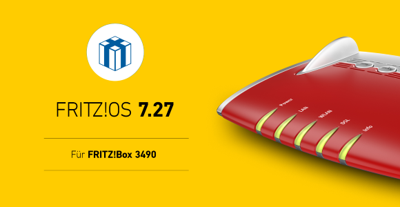 AVM FRITZ! FRITZ OS 7.27! Releases to Box 3490