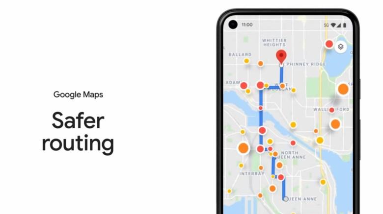 Google Maps Safe Path
