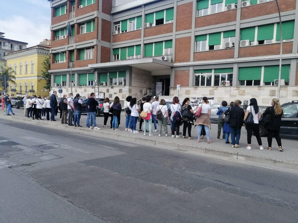 """CASERTA SHAME. Govt """"unloads"""" ASL Oz at the forefront of the emergency. Tough demonstration via Unit de Italia"""