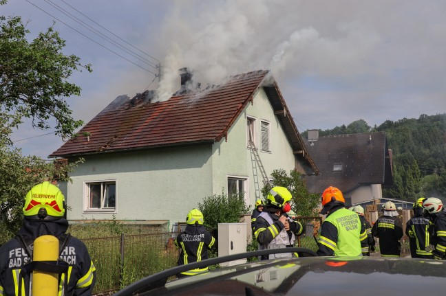 Large-scale action for nine fire departments in the event of a fire in a residential building in Wallen an der Tratnach
