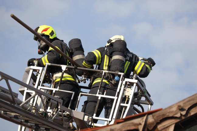 Large-scale action for nine fire departments in the event of a fire in a residential building in Waller an der Tratnach
