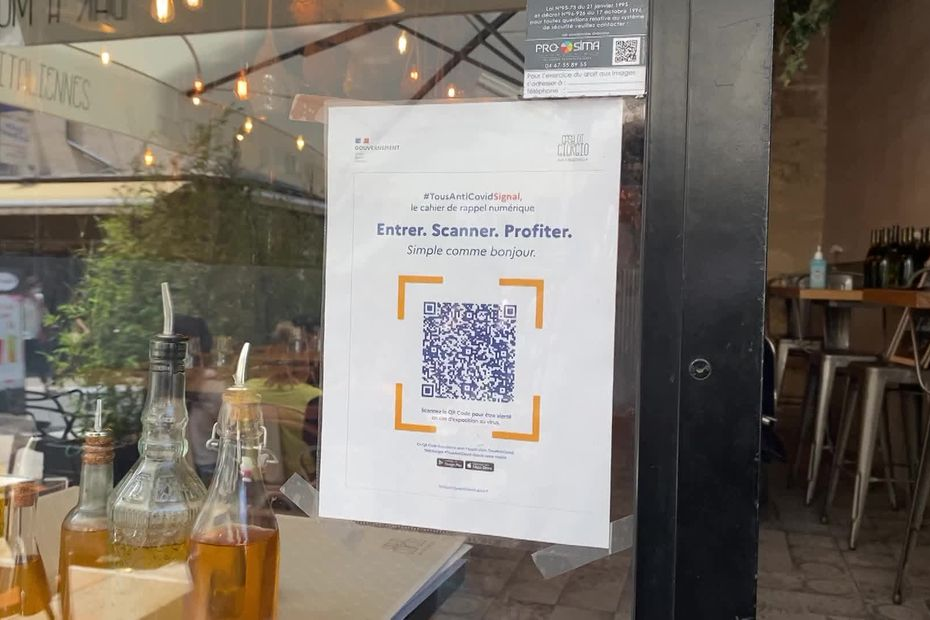 In Montpellier, the QR code in restaurants is not successful