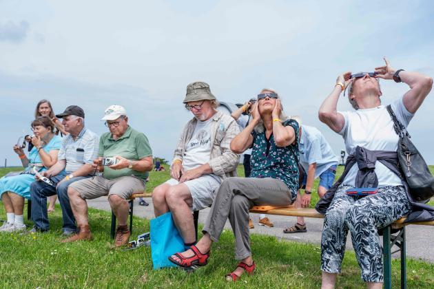 June 10, 2021, eclipse observation in Dolos, Denmark.