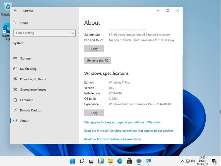 Screenshot from System Settings: ப்பு Version: Windows 11 Pro