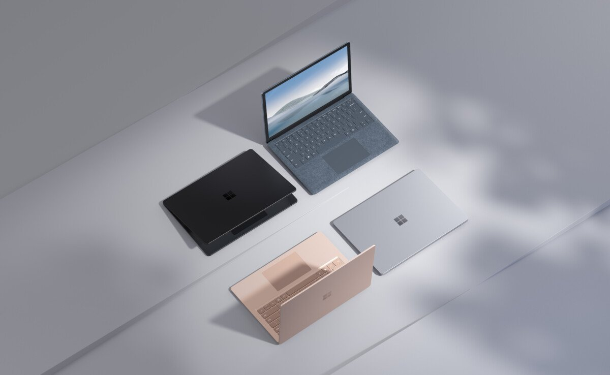 Different colors and models of Surface Laptop 4.