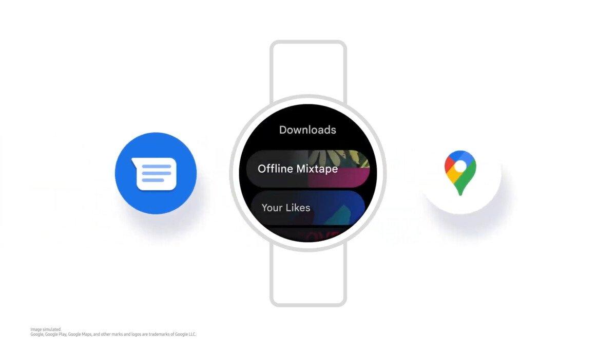 Google apps on the Samsung Galaxy Watch