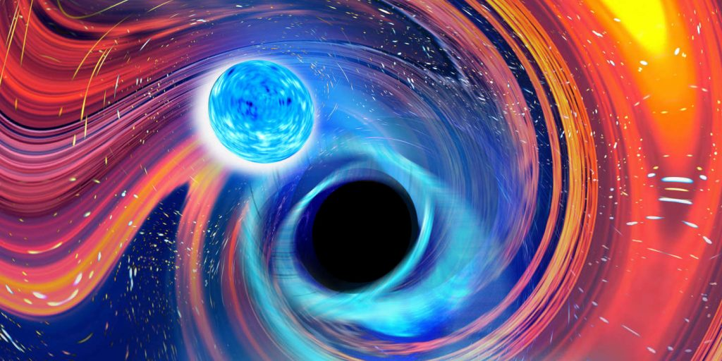 For the first time, a black hole containing a neutron star has been discovered