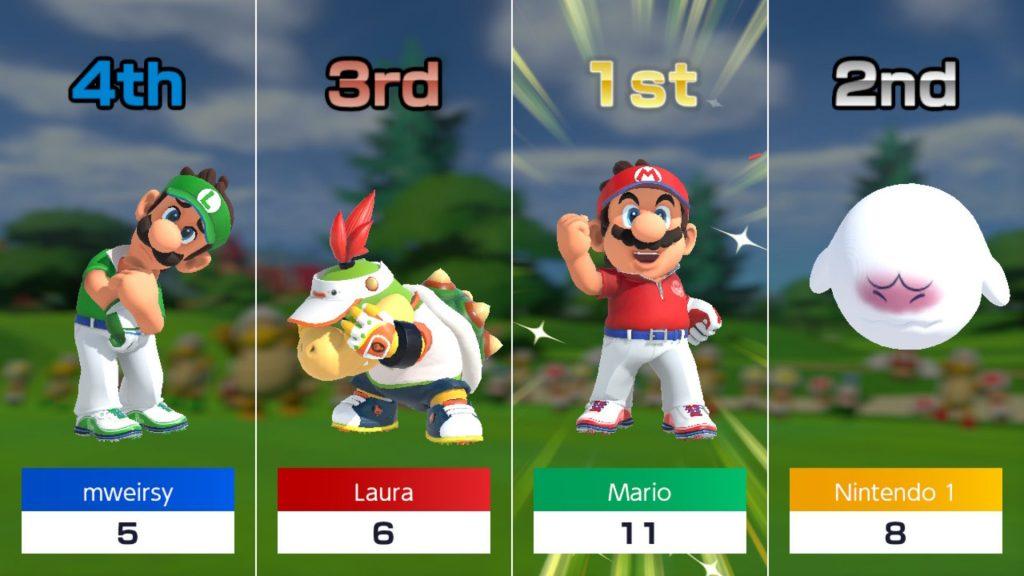 A silk mic weir o golf ... Mario golf!