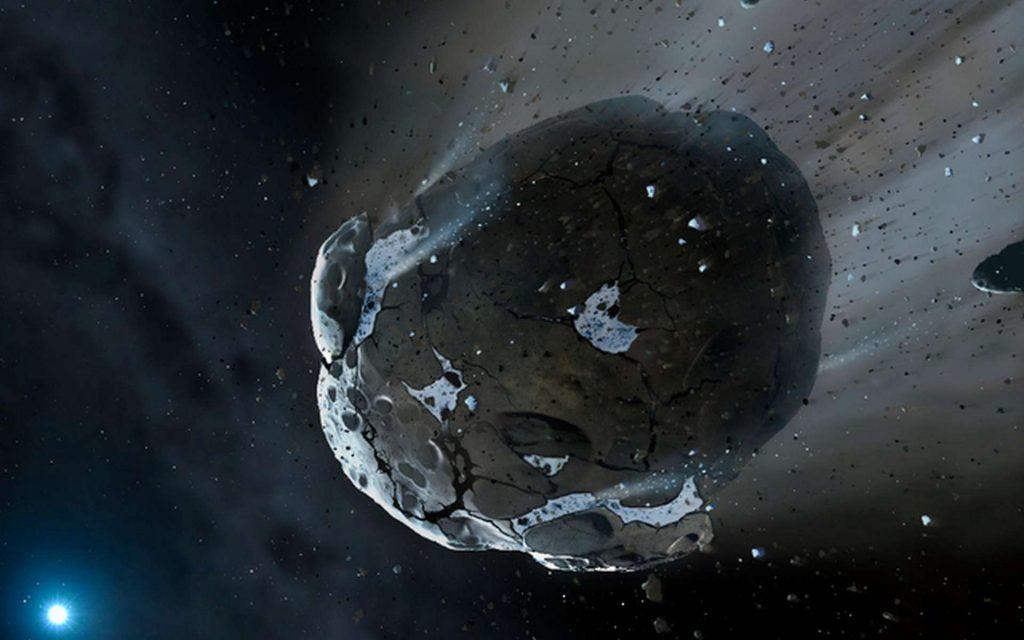 Une vue d'artiste de 2014 UN271 à son périhélie. © Mark A. Garlick, The University of Warwick