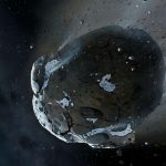 A giant comet is heading towards the sun from a distance in the solar system