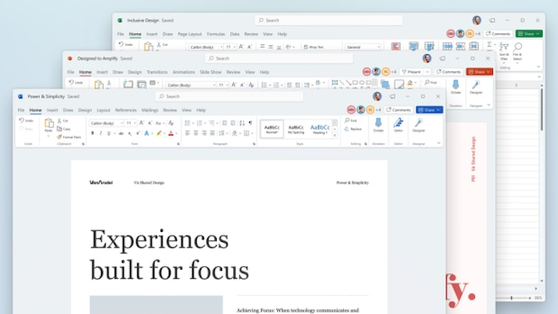 The new design of office programs is based on Windows 11.