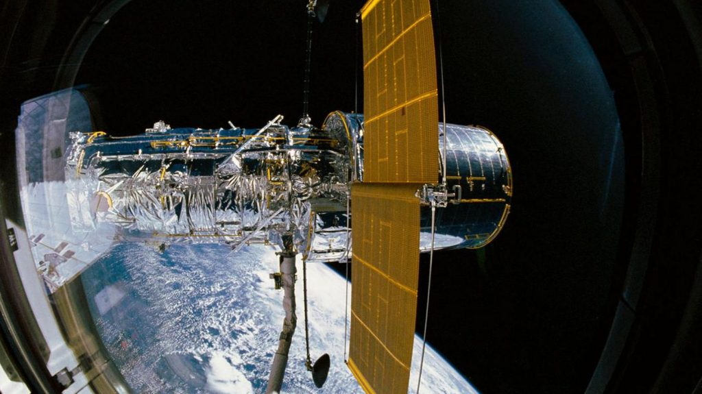 The Hubble telescope was shut down for several weeks