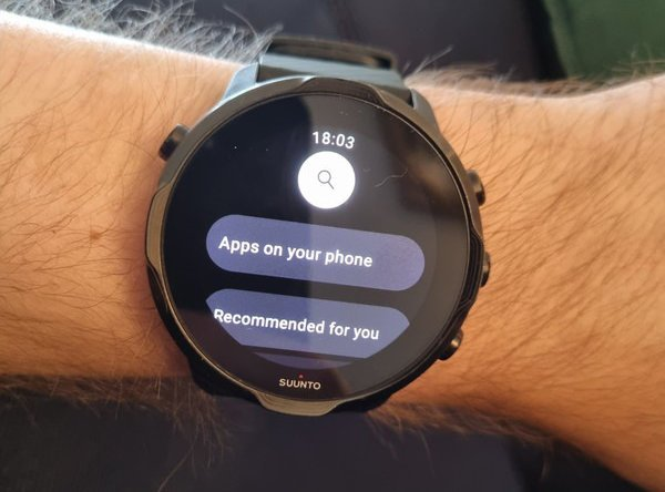 New Play Store design in WearOS 3.0, here on a Suunto 7