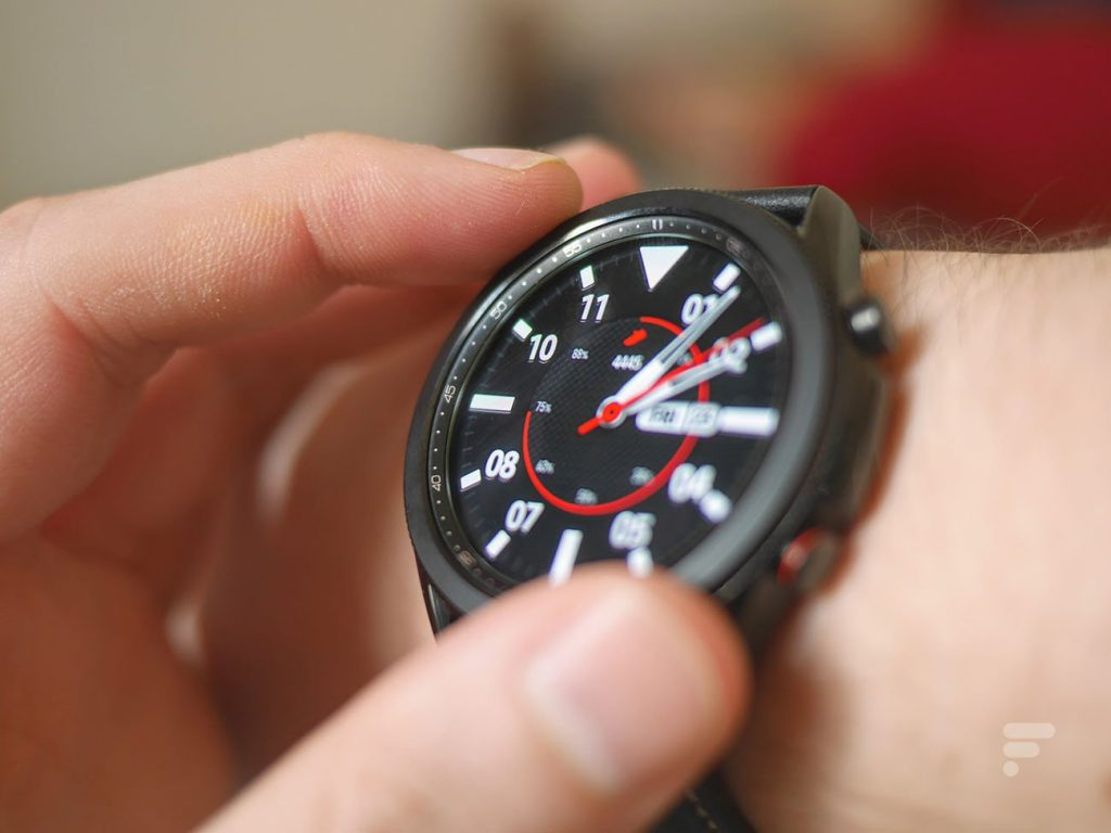 The Samsung Galaxy Watch 4 emerges from all angles in the video