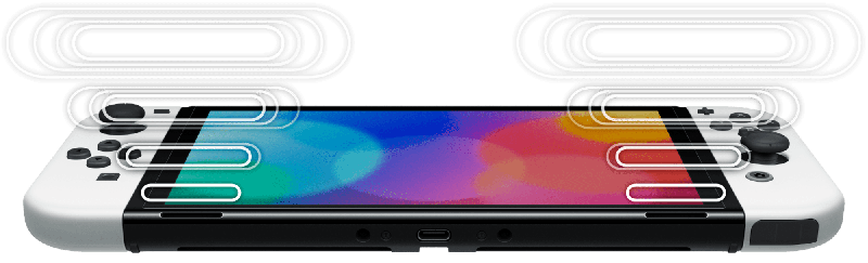 Nintendo Switch OLED model and its enhanced audio.