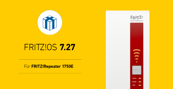 AVM FRITZ! Releases OS 7.27 for FRITZ! Repeater 1750E