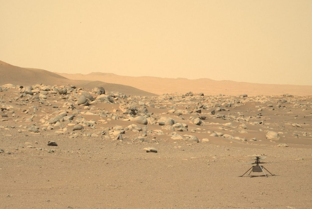 ingenuity helicopete martien revient neuvieme vol images couleurs