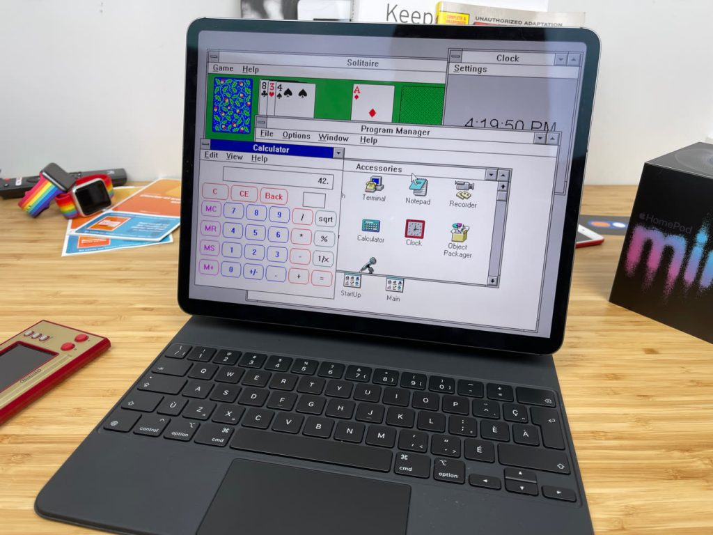 Windows 3.1 sur iPad : enfin un vrai système d