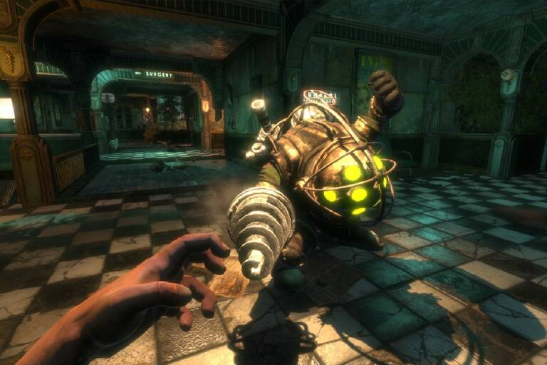 BioShock, Big Daddy's terrifying face without helmet is here