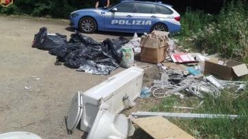 Dump tons of waste in the woods: monitored by traffic police