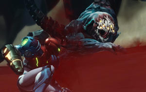 The scene that comes from the Metroid fear is that Samos Aran fights the monsters