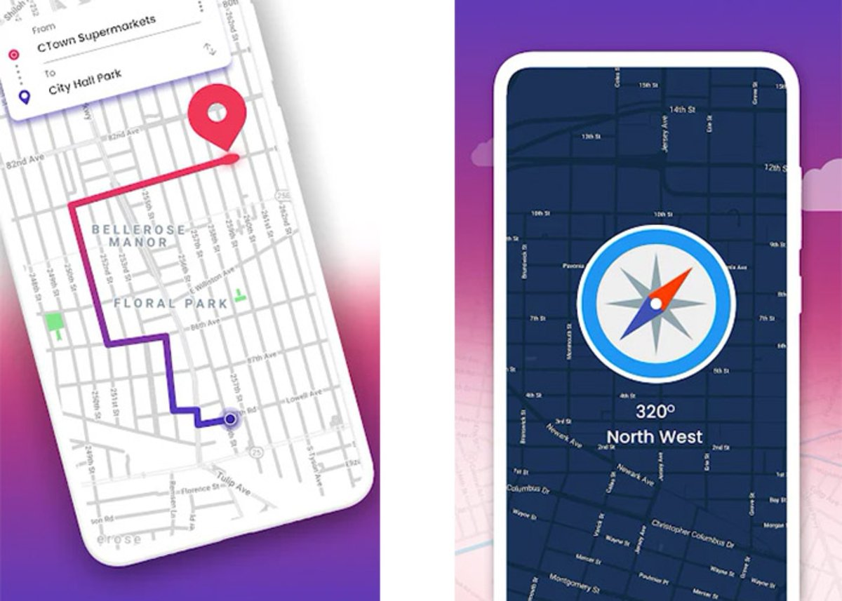 Real-time GPS, maps, routes and traffic