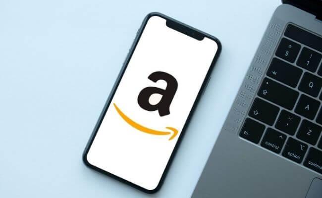 Amazon logo sur téléphone