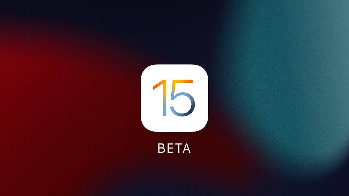 ios 15 beta title