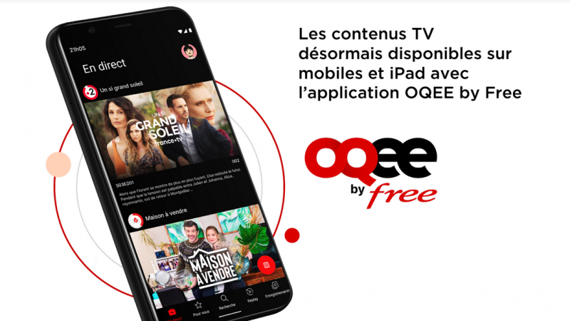 Free officially launches its Oqee app not only on iOS but also on Android