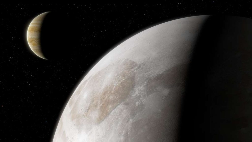 Jupiter Moon Comet: There is steam in the atmosphere on the big moon