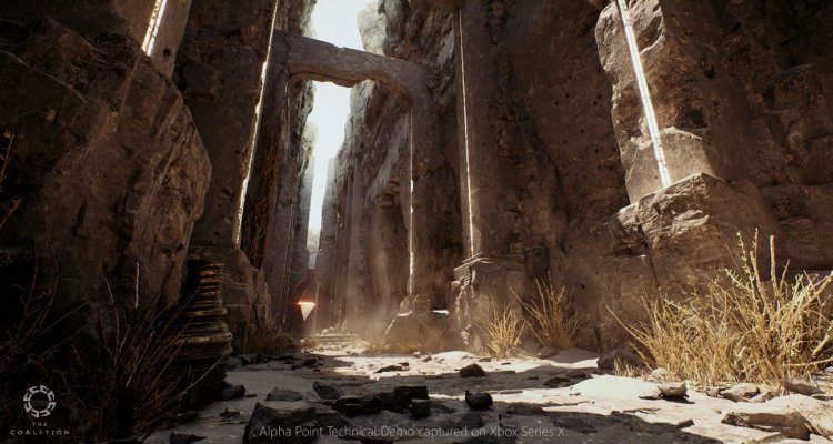 Shows an image of the Alliance Alpha Point, GTC 2021 - Nert 4. Unreal Engine 5 Demo Developed for Life