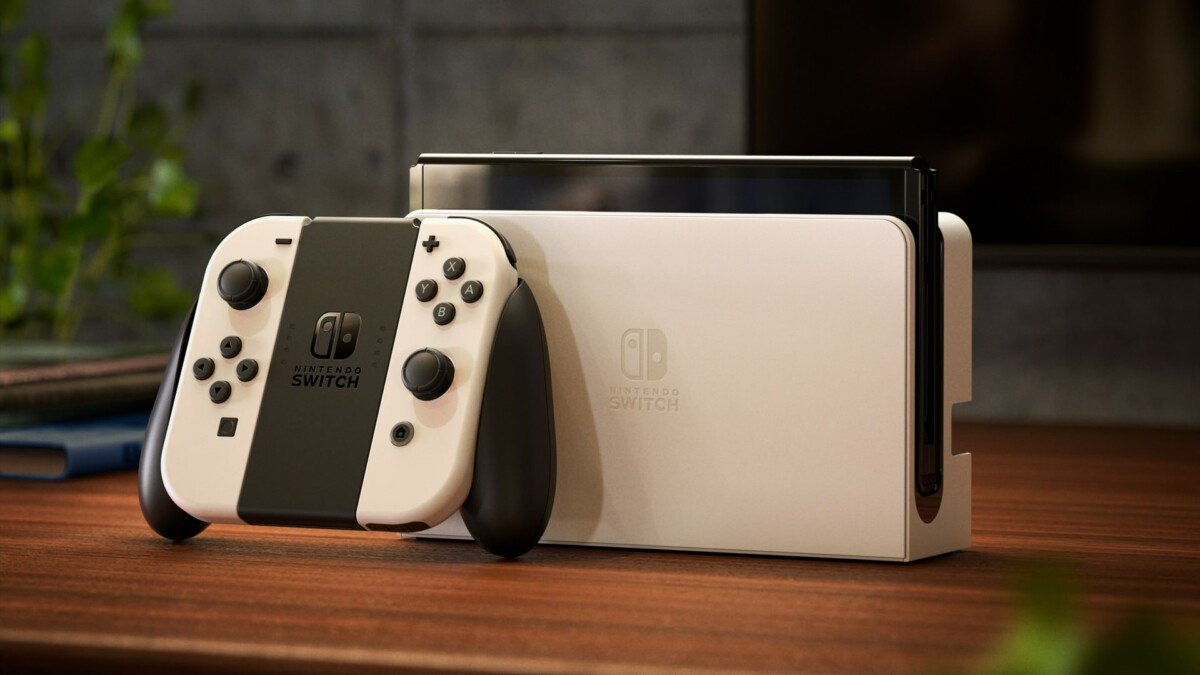The Nintendo Switch comes in Old White