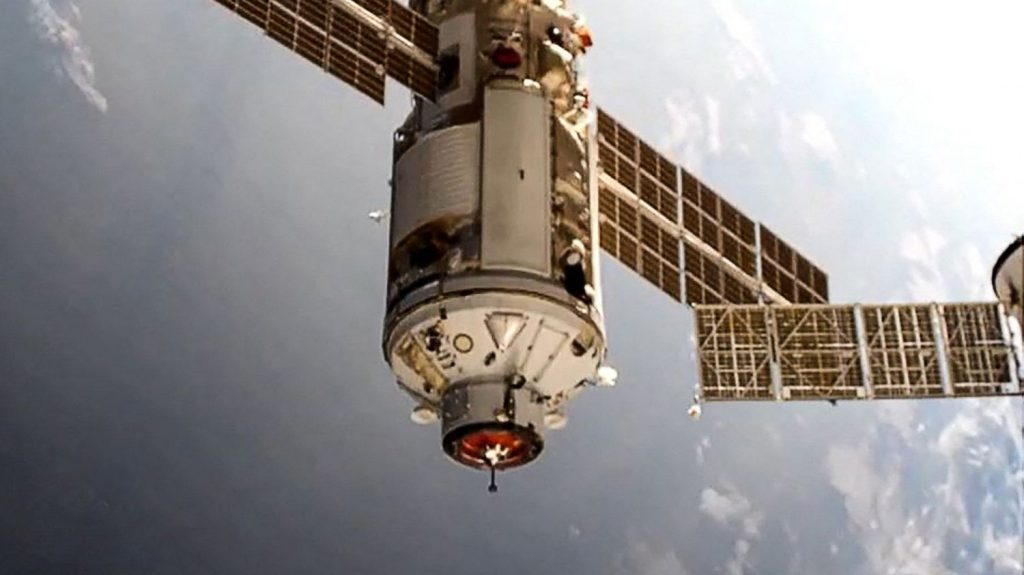 The Russian science block is connected to the Noka International Space Station