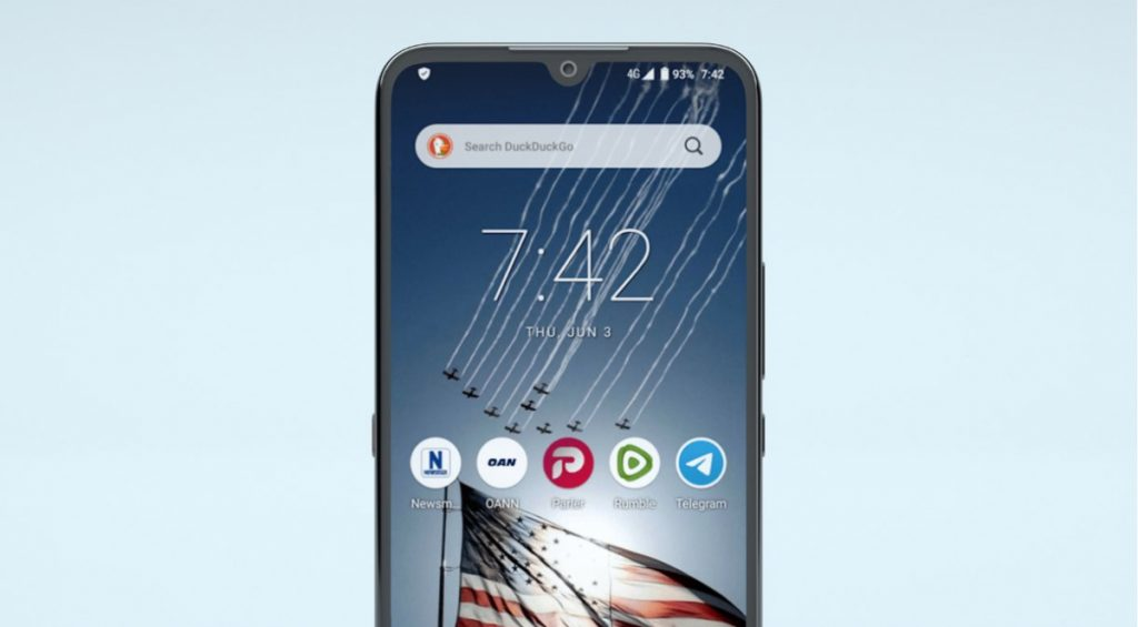 The device 500 device for American patriots is probably the cheapest cell phone from China