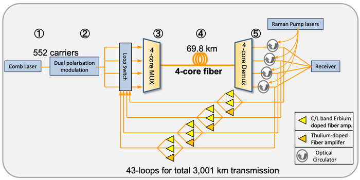 Project system exchange 319 tb / s Japan